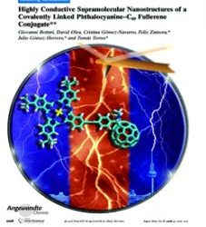 Highly conductive supramolecular films of a covalently–linked phthalocyanine–C60 fullerene conjugate